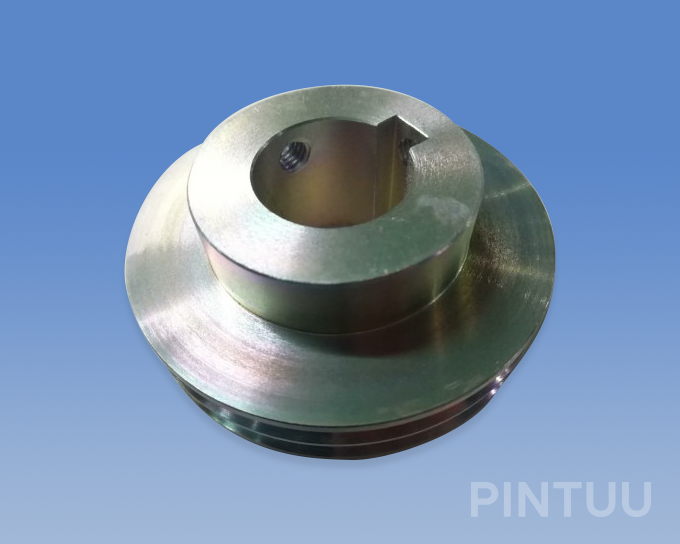 Machining pulley for block and tackle-Zinc plated iron-1kg