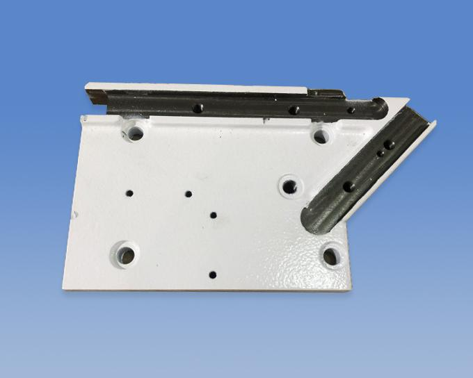 Mounting plate with white painting-steel casting-5.5Kg